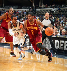 It's so nice to know Kyrie is destroying NBA defenses again, that I won't even use a picture of a tank (Photo by Joe Murphy / NBAE via Getty Images)