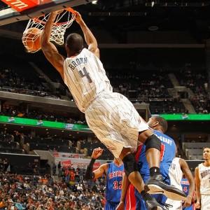 Derrick Brown dunks on a helpless defender