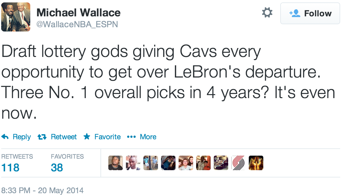 WellActually You\'re Wrong to be Outraged about the Lottery – Cavs ...